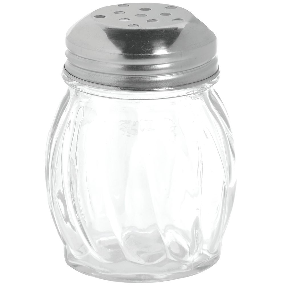 SHAKER, CHEESE, 6 OZ, PERFORATED S/S TOP