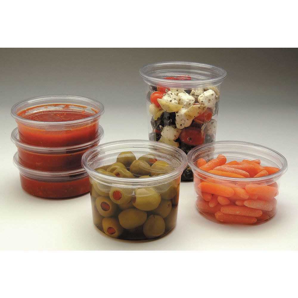 Plastic Deli Containers Lids Are Stackable To Save Space
