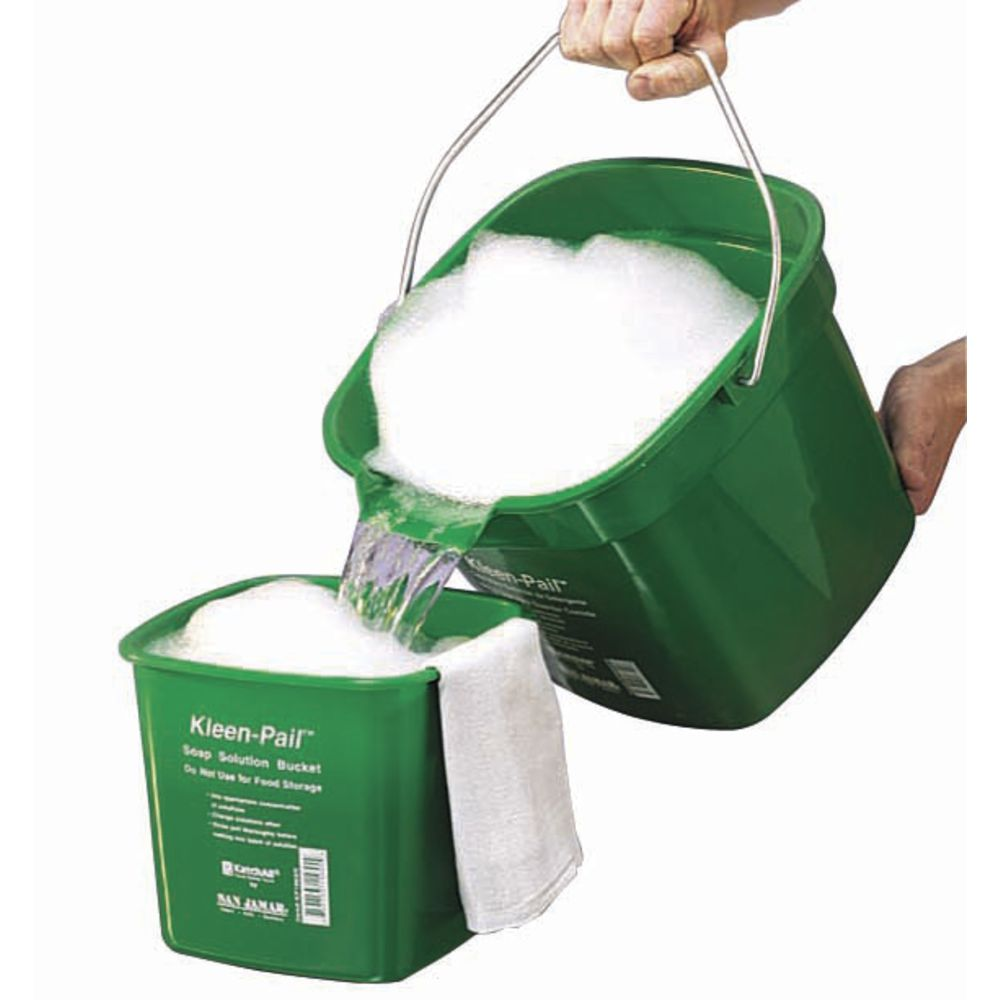 Kleen-Pail Utility Bucket Is 3qt Green For Cleaning