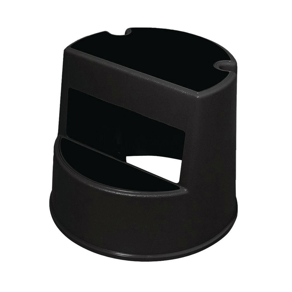 Terrific Rubbermaid Black Plastic Step Stool 16Dia X 13H Inzonedesignstudio Interior Chair Design Inzonedesignstudiocom