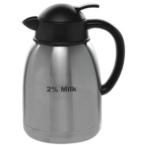 DECANTER, 1.5L, W/2% MILK , STAINLESS
