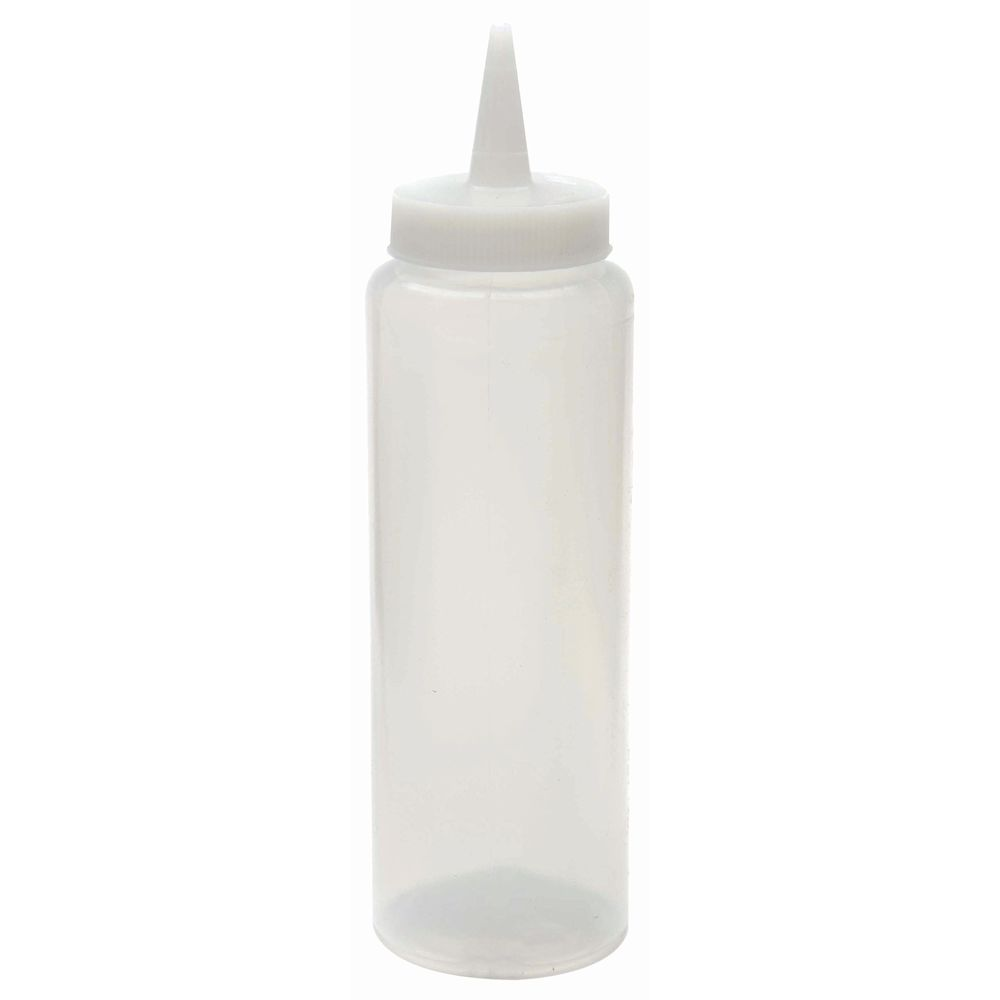 BOTTLE, SQUEEZE, WIDE, 8OZ, CLEAR, HUBERT