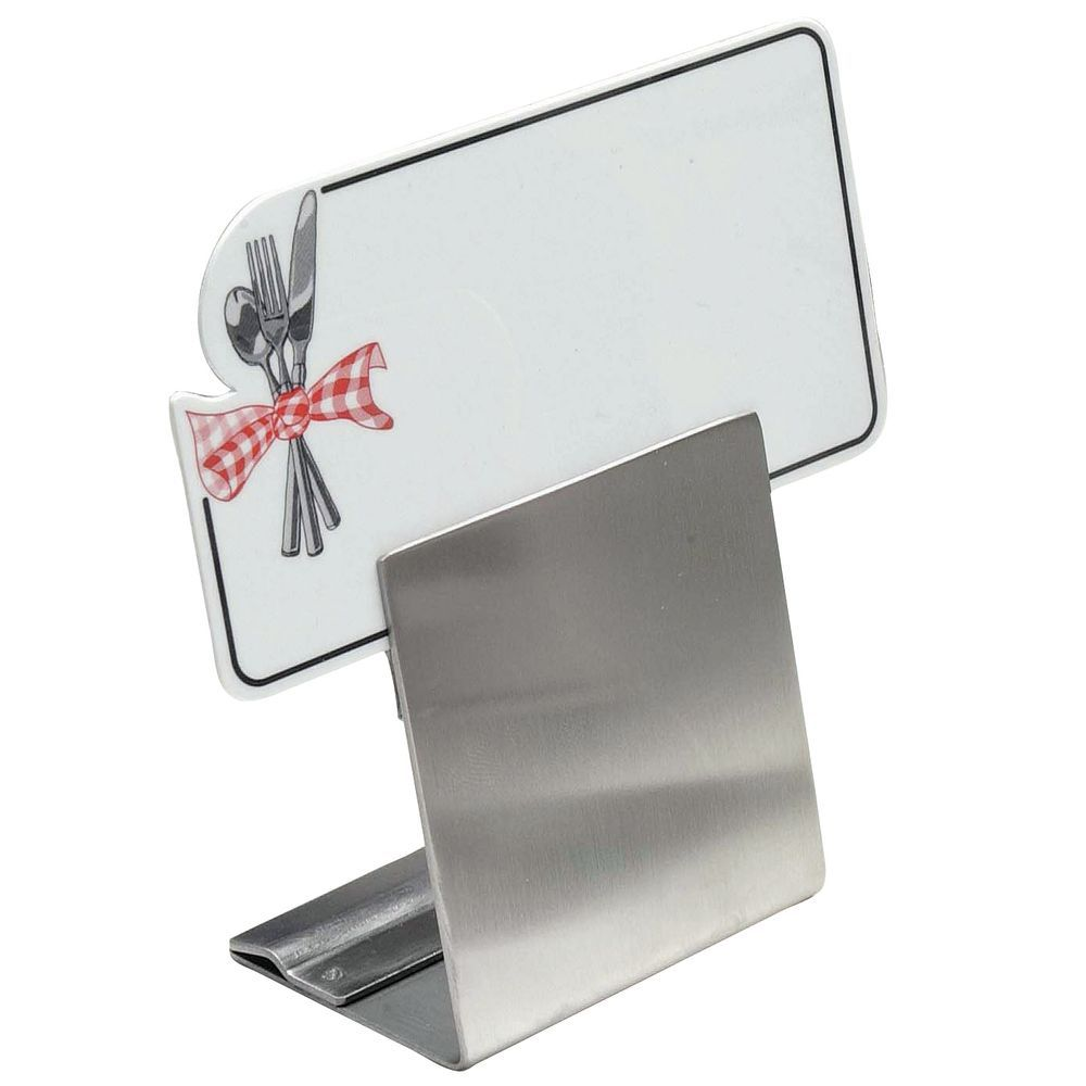 "Stainless Adjustable Sign Holder Dual Height 2""W"