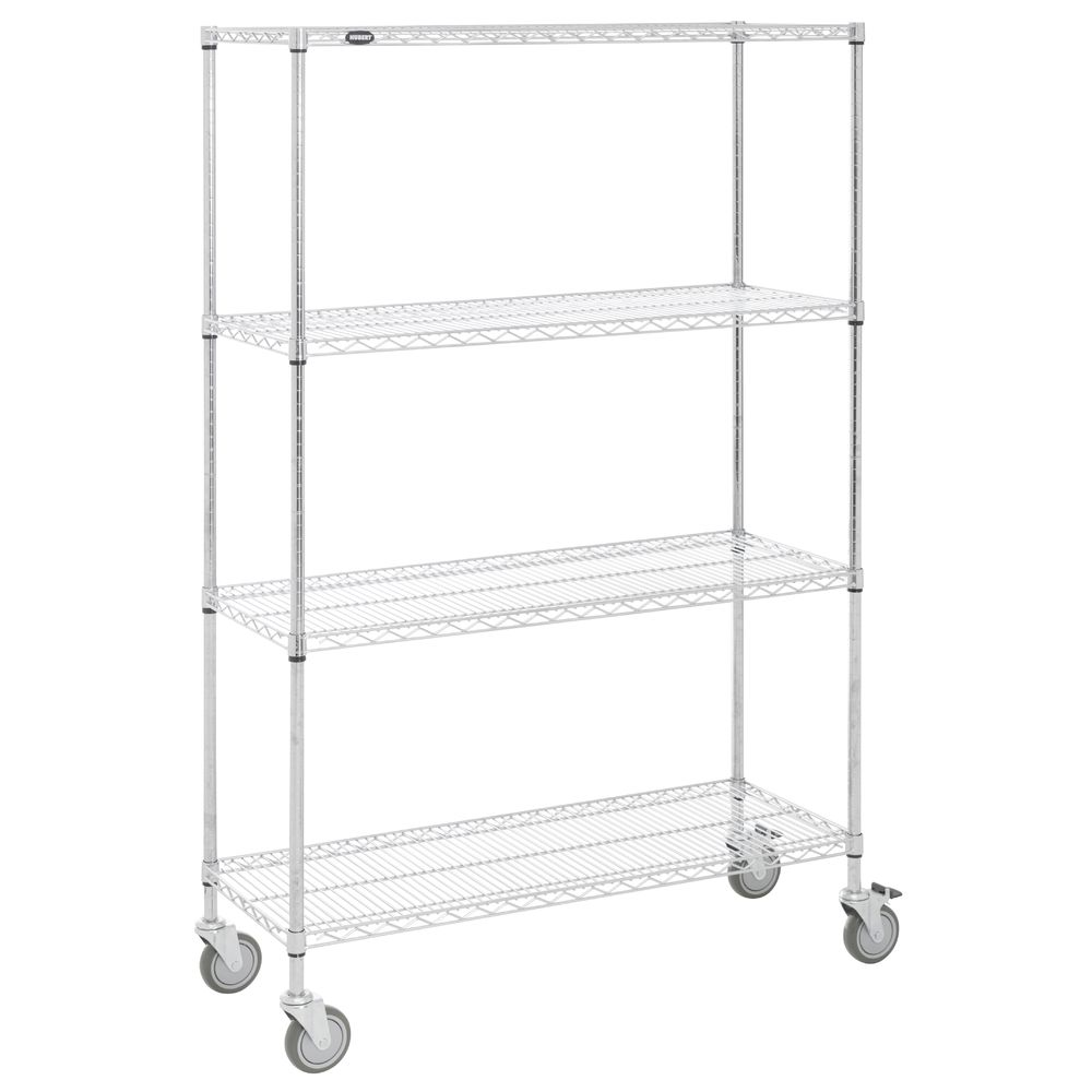 SHELVING, MOBILE, 18X48X78, CHROME PLATED