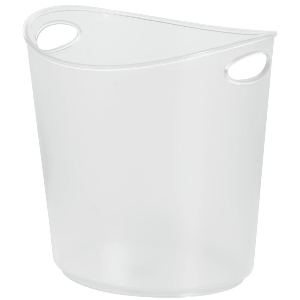 Clear Plastic Ice Bucket 1 Gal Oval