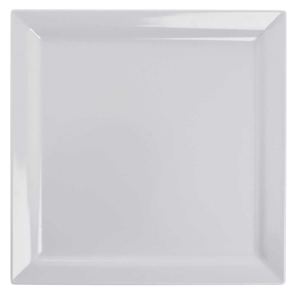 "Elite Global Solutions Vogue Square White Melamine Plate 11"" Sq 6/Cs"
