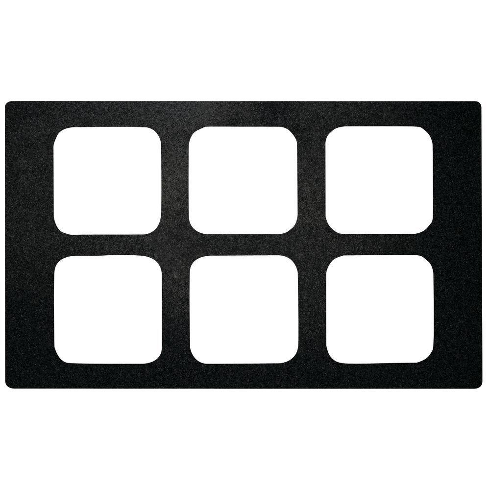 Black Melamine Tile for Cold Food Display