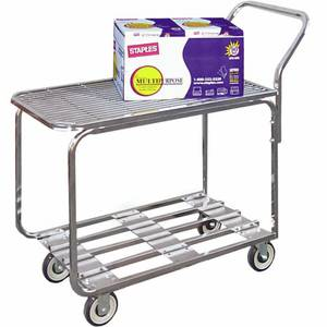 STOCK CART, WELDED CHROME, 18X36