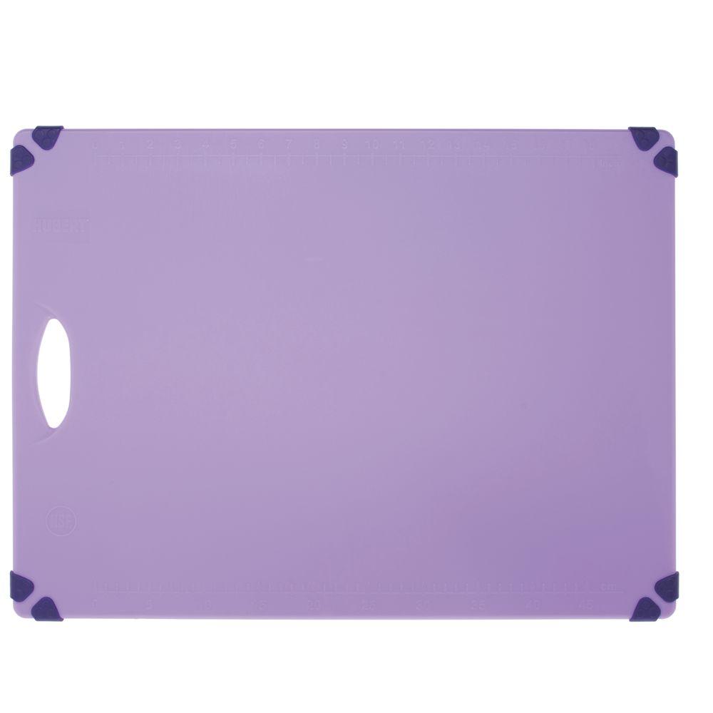 HUBERT Purple Polypropylene Cutting Board with Grippers