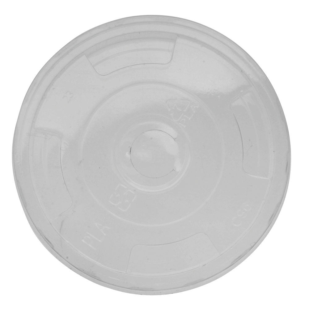 LID, FLAT, FOR 9, 12, 16, 20, 24OZ, COLD, INGEO