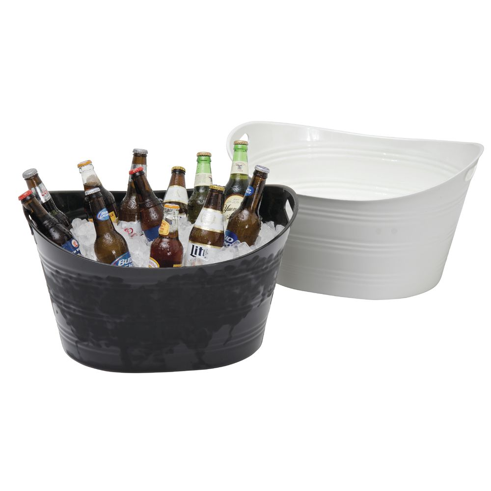Black Plastic Party Tub Oval