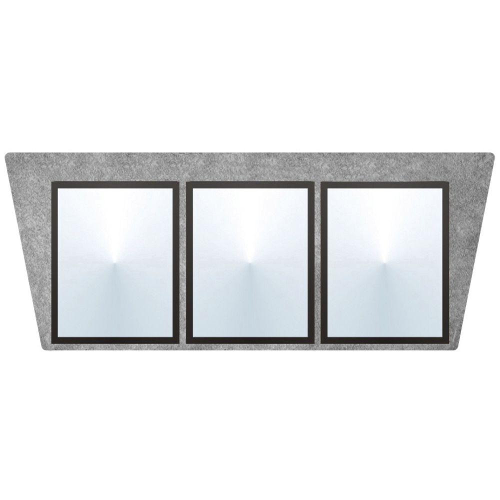 "Flat Top Menu Boards 3 Panel Gray Stone 36"" x 15"""