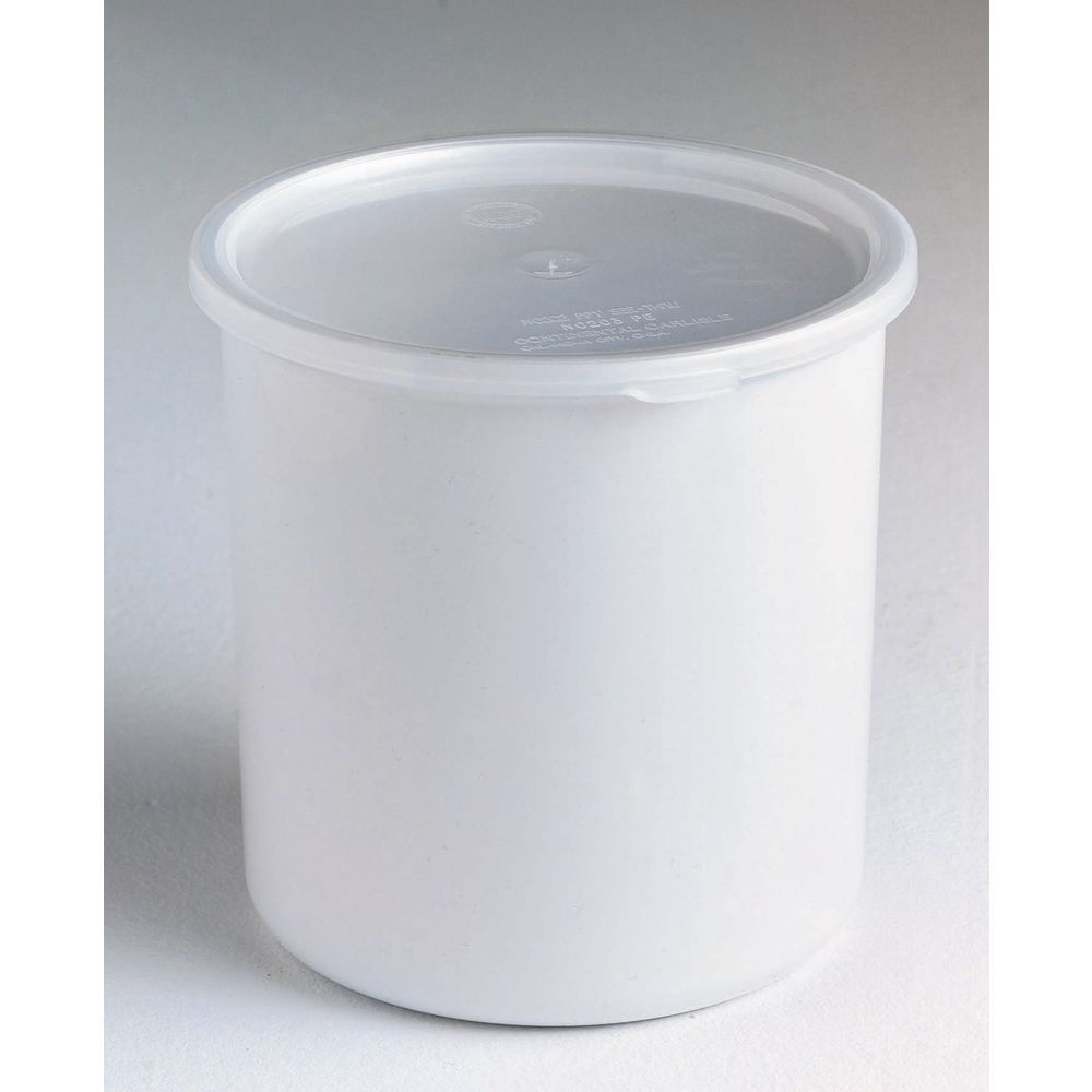 "Carlisle Classic Crock with 2.7 qt Capacity in White SAN Plastic 6 9/16""D x 6 3/4""H"
