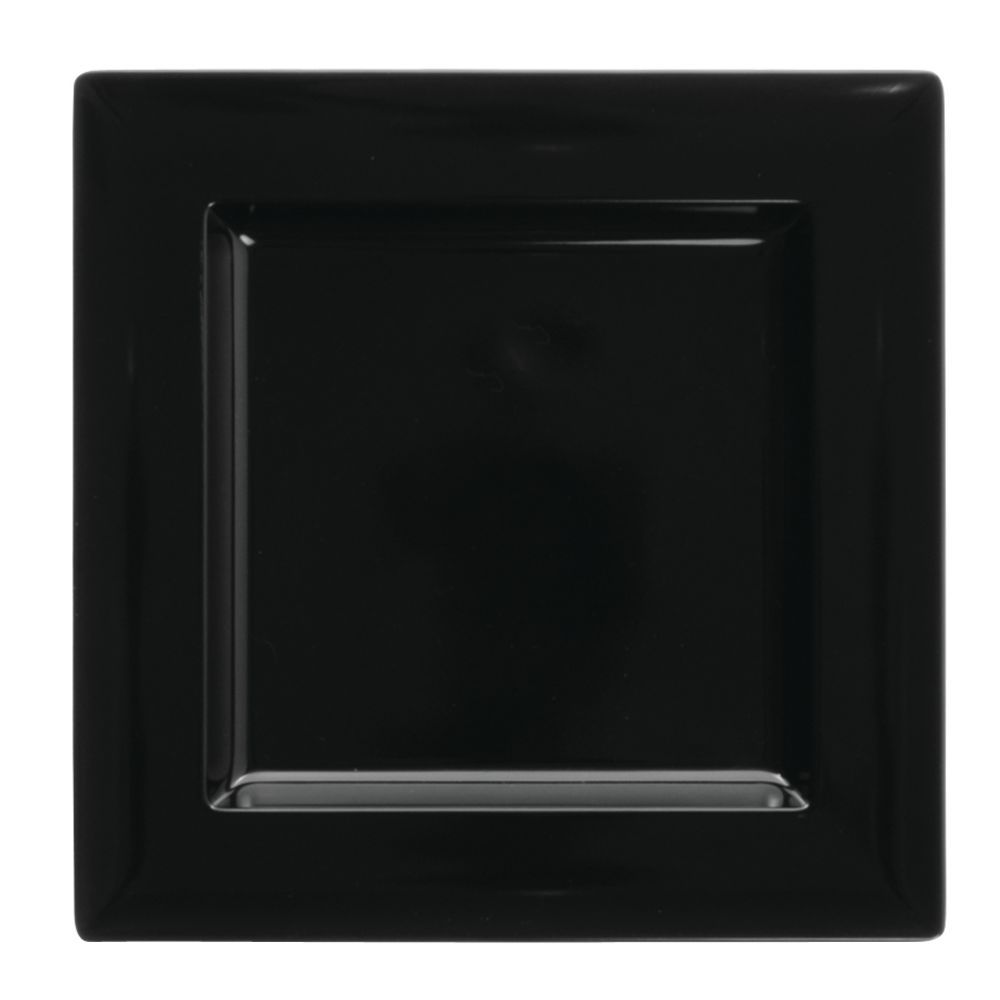 PLATTER, BLACK, SQ, MED, 9.75X9.75X1