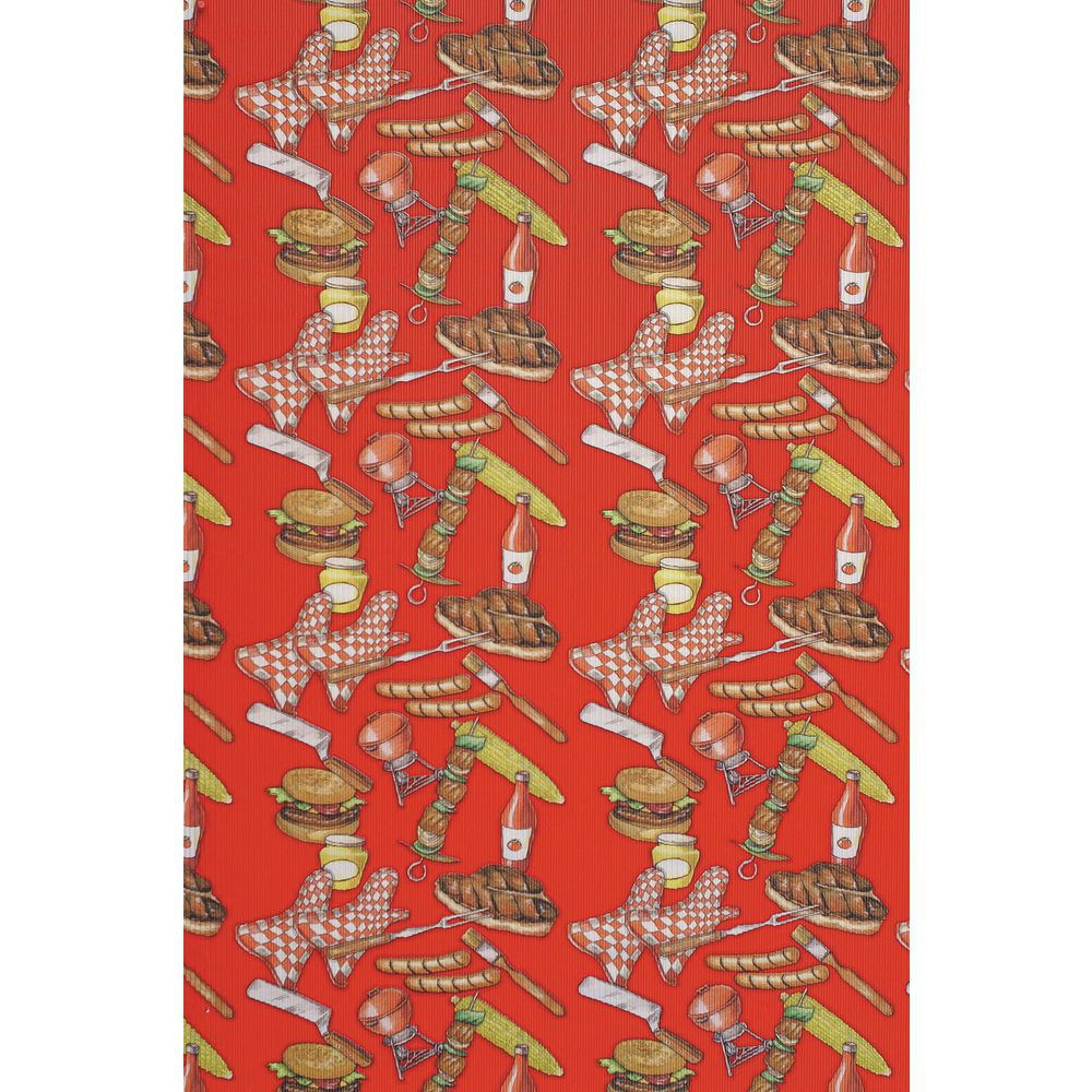 "Corobuff Valance Barbeque Red 45'L x 8 1/2""W Corrugated Paper"