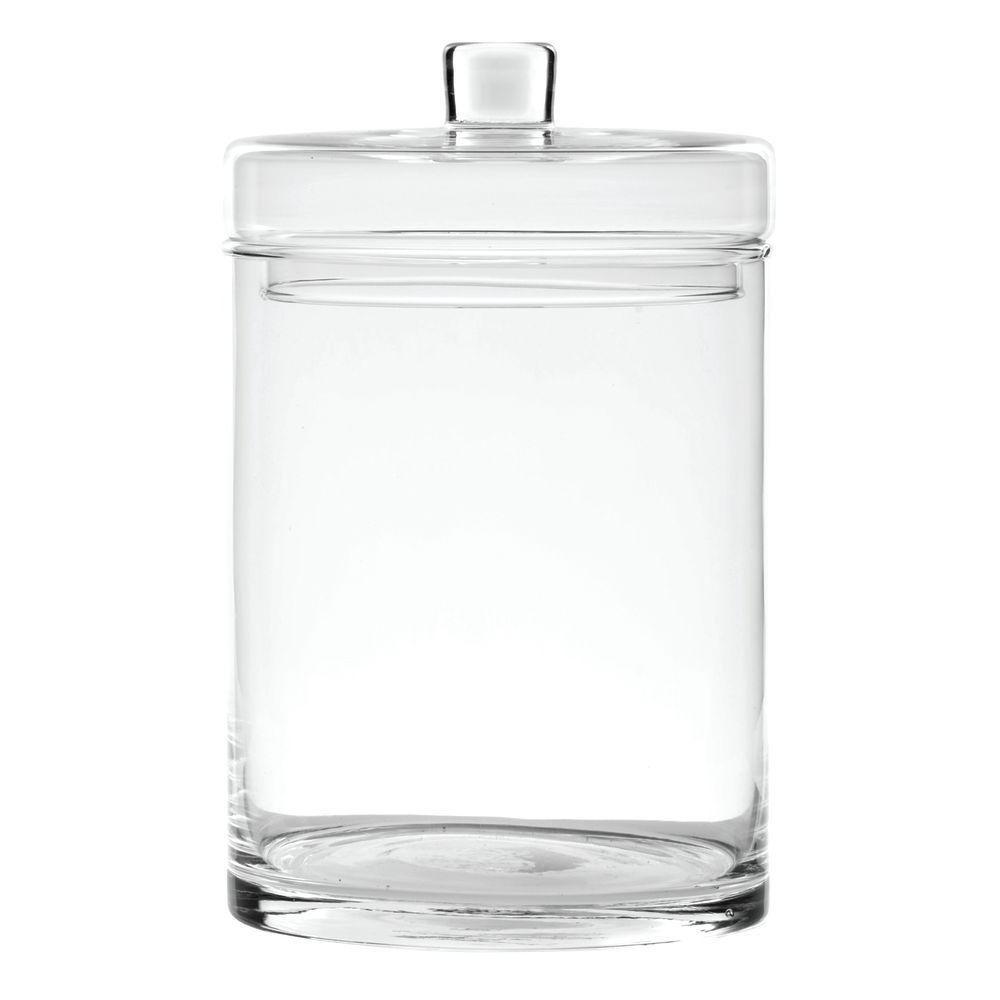 JAR, CANISTER, W/LID, 6DIA X 10H