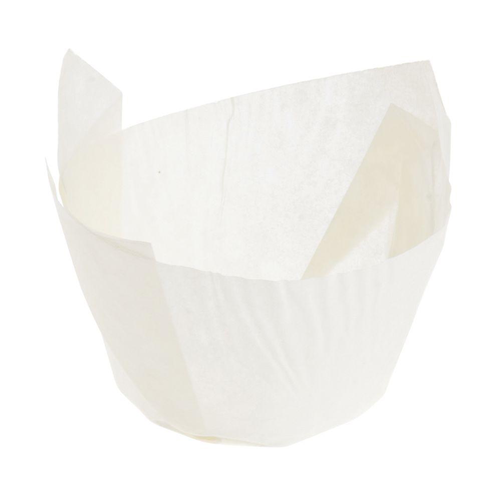 """Tulip Baking Cup 3 1/2 Oz White 2""""Dia x 2 3/4""""H"""