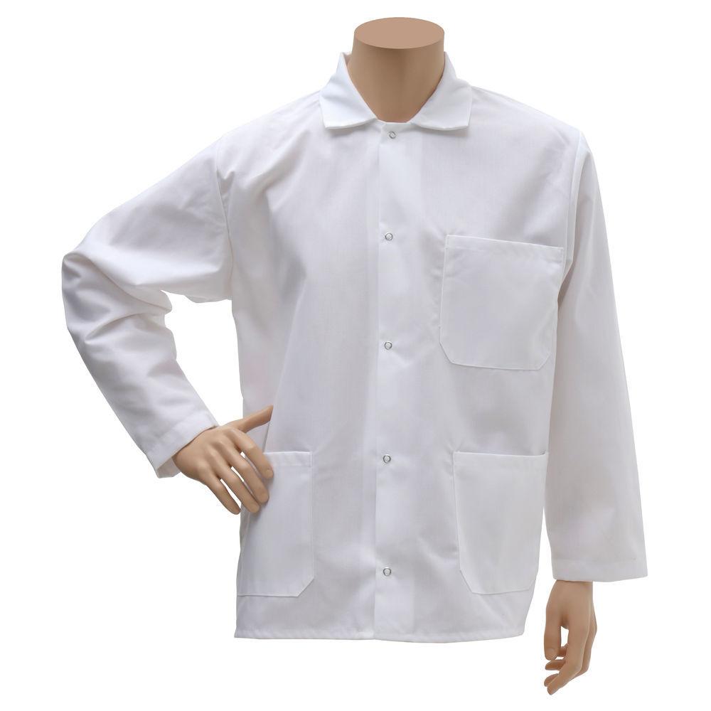 Hubert® Short Butcher Coat White Medium