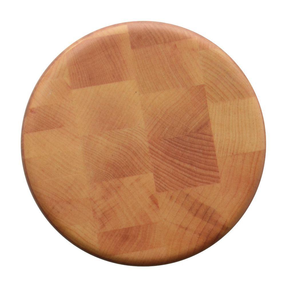 18 Dia x 2 H Display Riser Round Melamine and Bamboo
