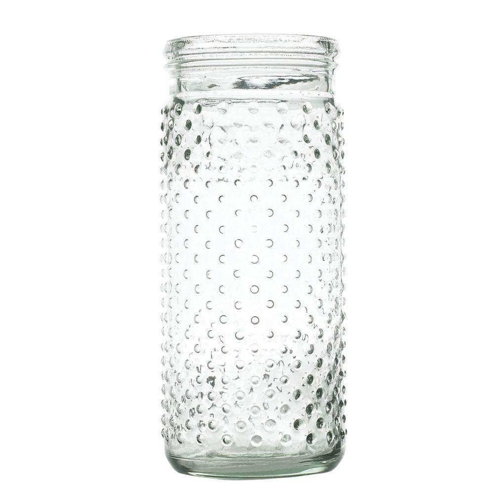 JAR, HOBNAIL, CLEAR, 4X8