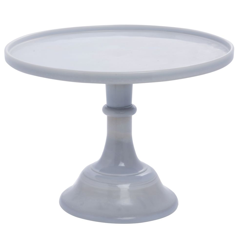 CAKE STAND, GLASS, 12DIAX9H, GREY MARBLE
