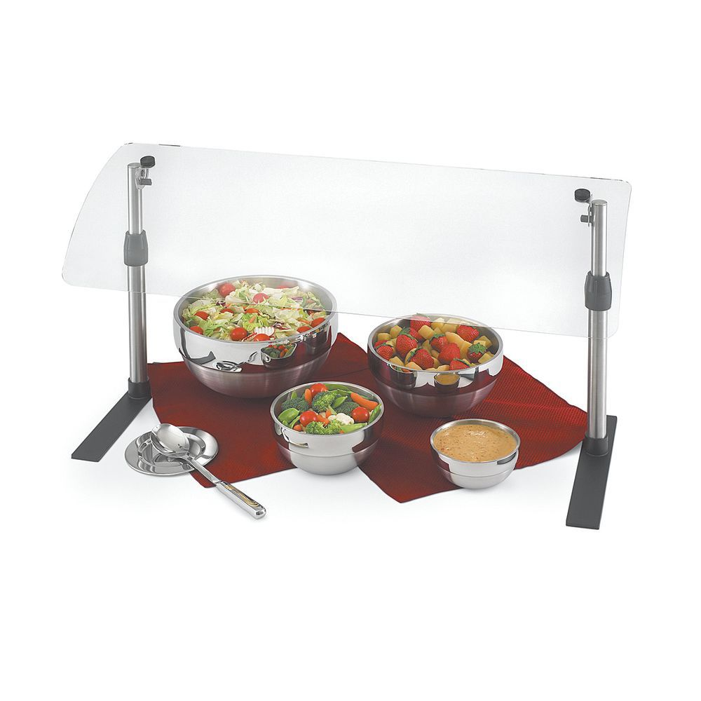 """Vollrath Mobile Adustable Breath guard 36""""L x 14""""W Height From 14 1/4"""" To 25 1/4"""" Steel"""