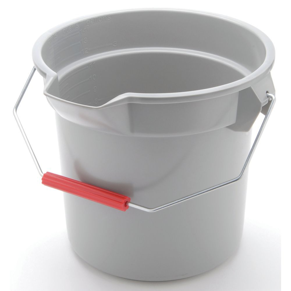 Rubbermaid Buckets Designed with a Thick Rim and Extra Strong Supporting Ribs for Durability