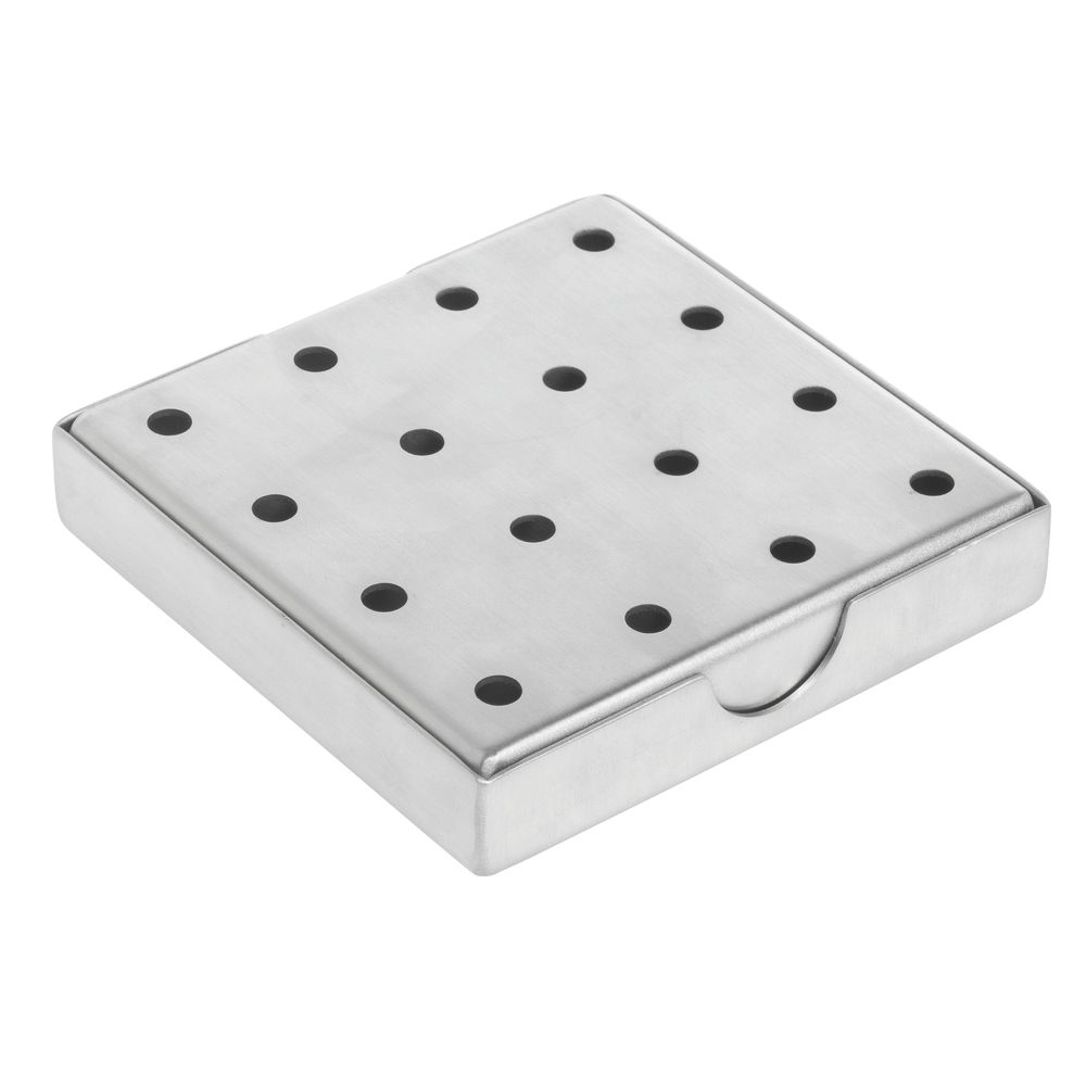 "DRIP TRAY, STAINLESS STEEL, 4""X4""X1"""