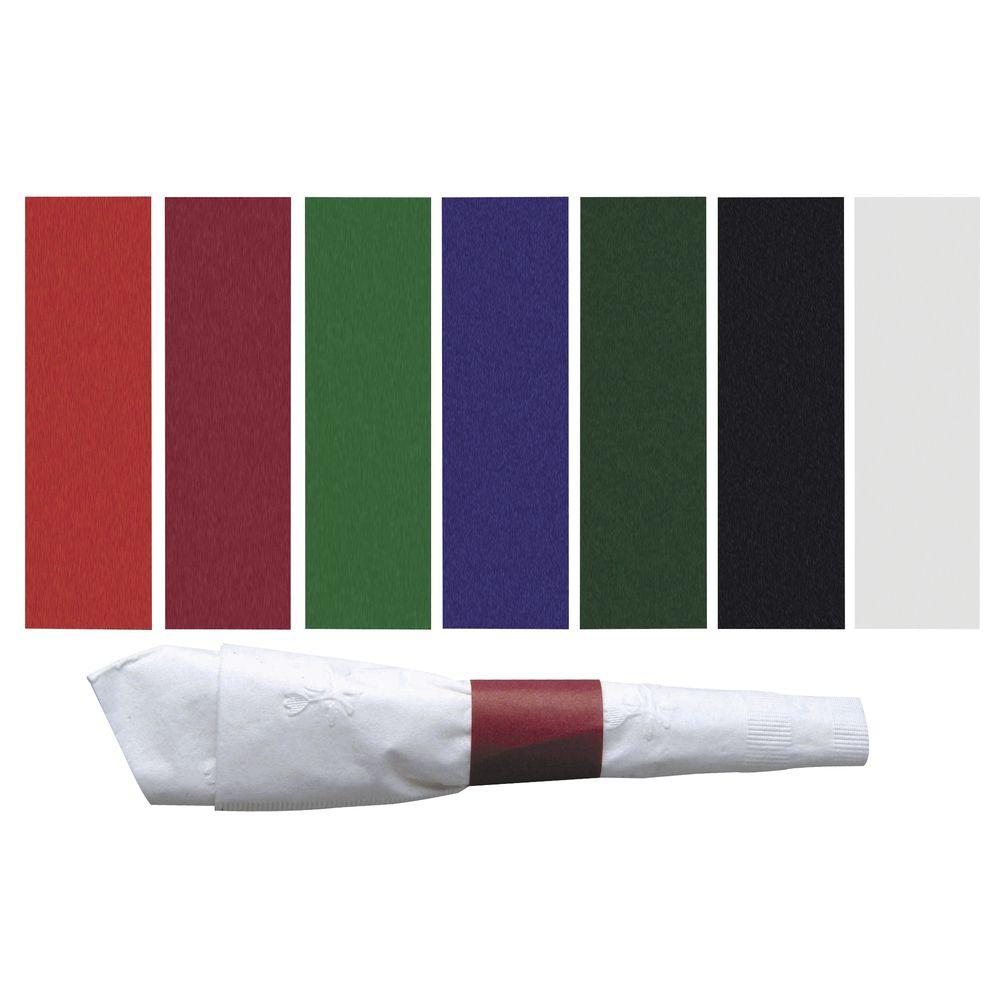 "Napkin Bands Black Paper 4 1/2""L x 1 1/2""H"