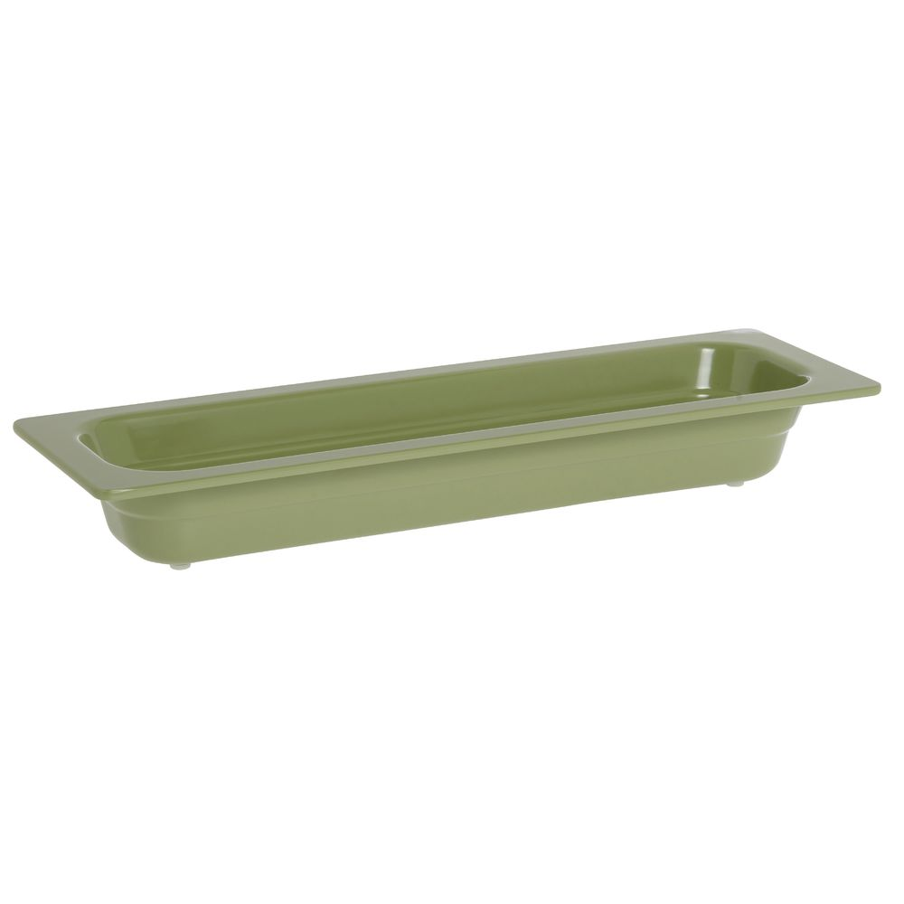 "Expressly Hubert® Half Size Long Melamine Pan Willow Green 2 1/2""D"