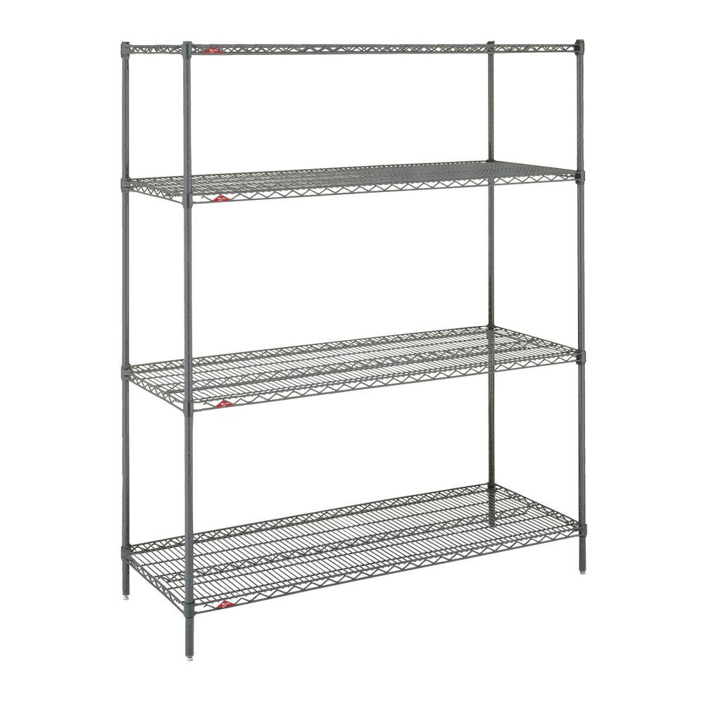 "Metro Super Erecta Metroseal 4 Shelf Metal Shelving Unit 48""L x 18""W x 63""H"