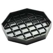 "DRIP TRAY, OCTAGON, 4""X4"", BLACK"