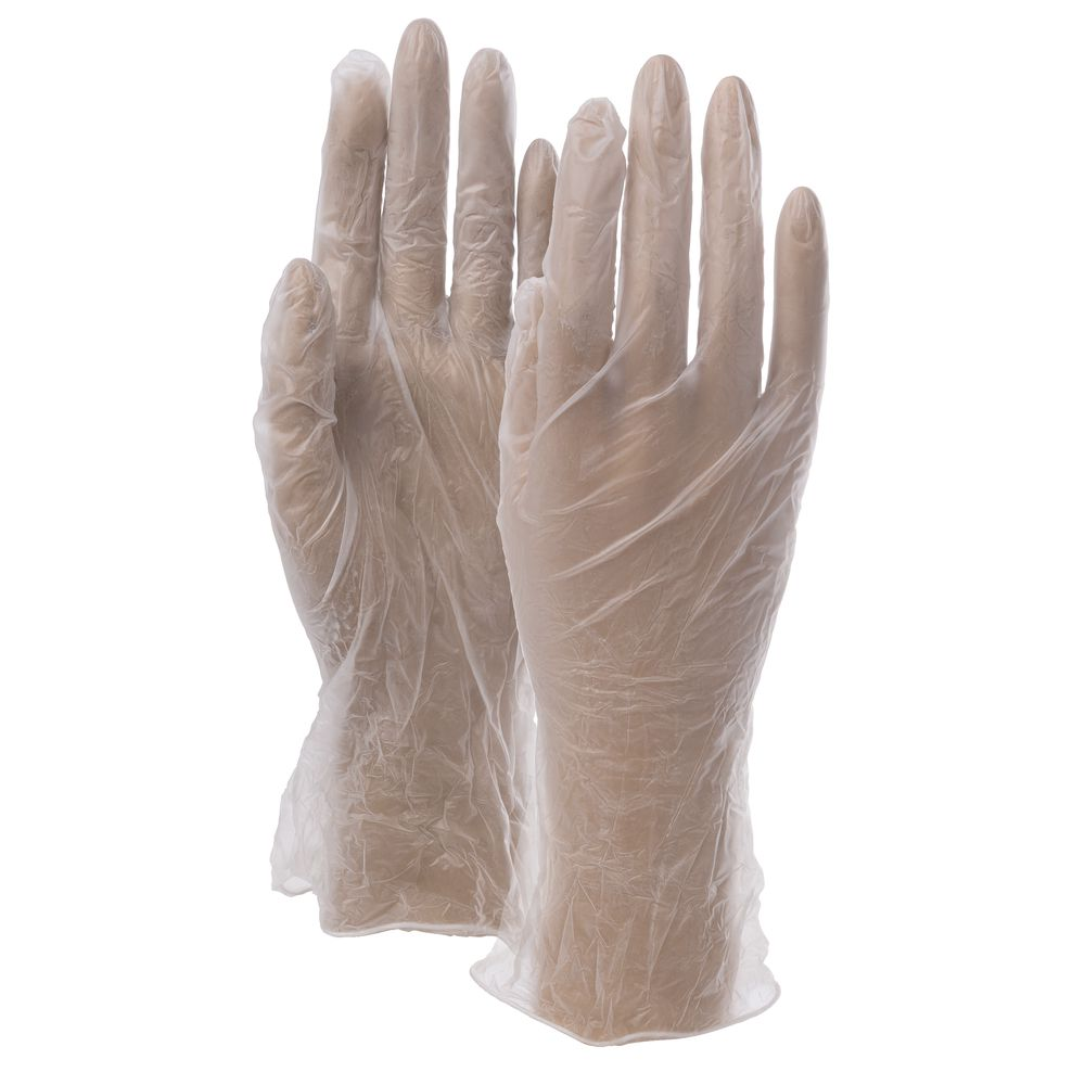 GLOVES, POWDERED, VINYL, 100/BX, X-LARGE