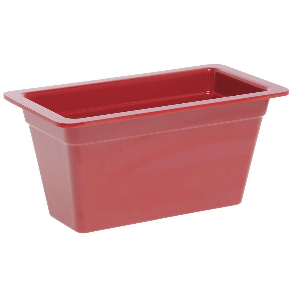 "Expressly Hubert® Third Pan Red Melamine 6""D"