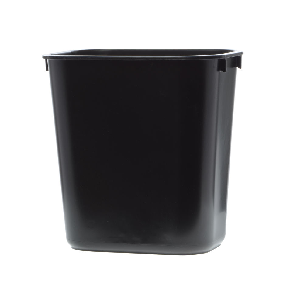 WASTEBASKET, 13 QT SMALL SOFT-SIDED, BLACK
