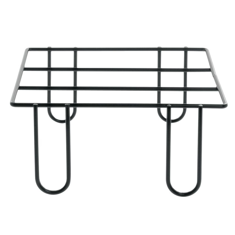 Expressly HUBERT® Square Black Wire Buffet Riser - 9\