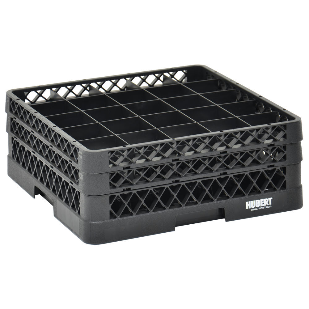 RACK, 25 COMPARTMENT, 2 EXTENDERS, BLACK