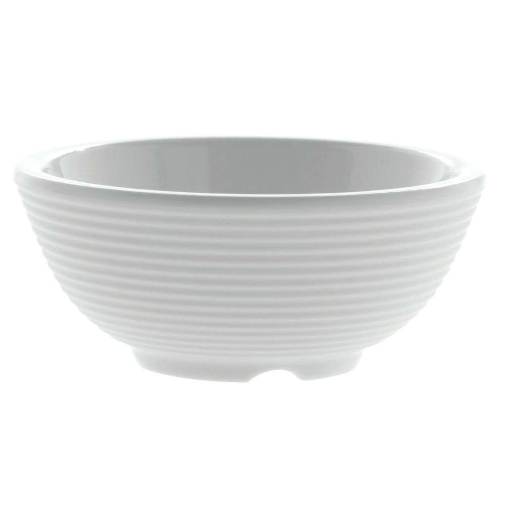 RAMEKIN, RIBBED, MELAMINE, WHITE, 2 OZ