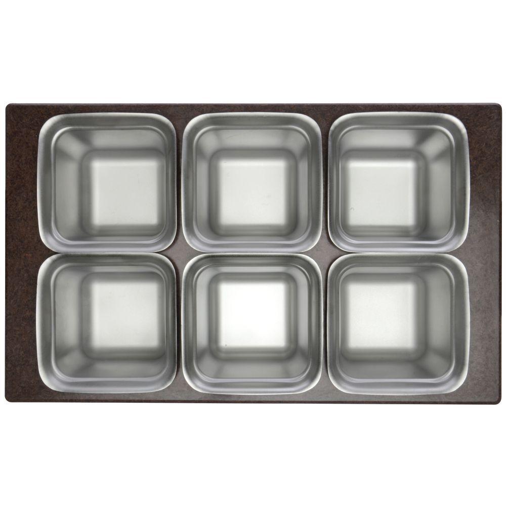 Brown Melamine Tile for 1/6 Size Pans