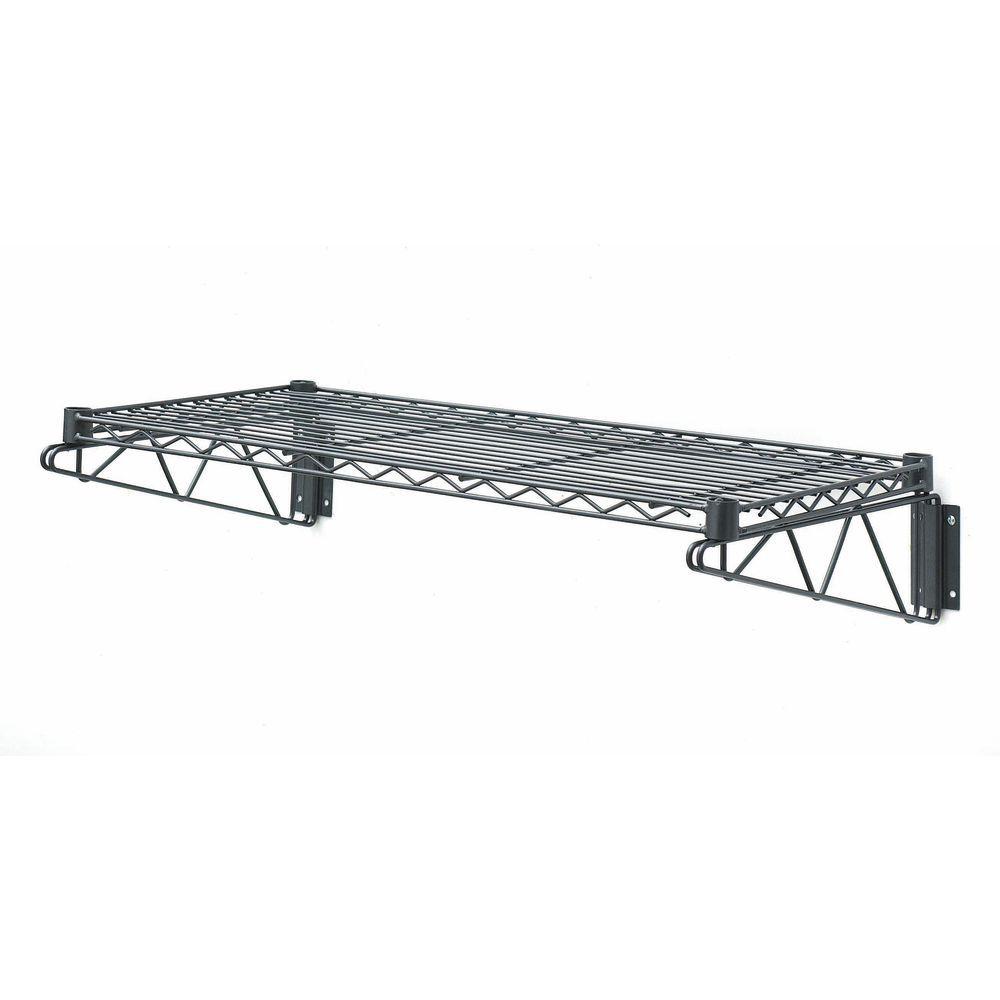 HUBERT® Flint Steel Wire Wall Shelf - 48\