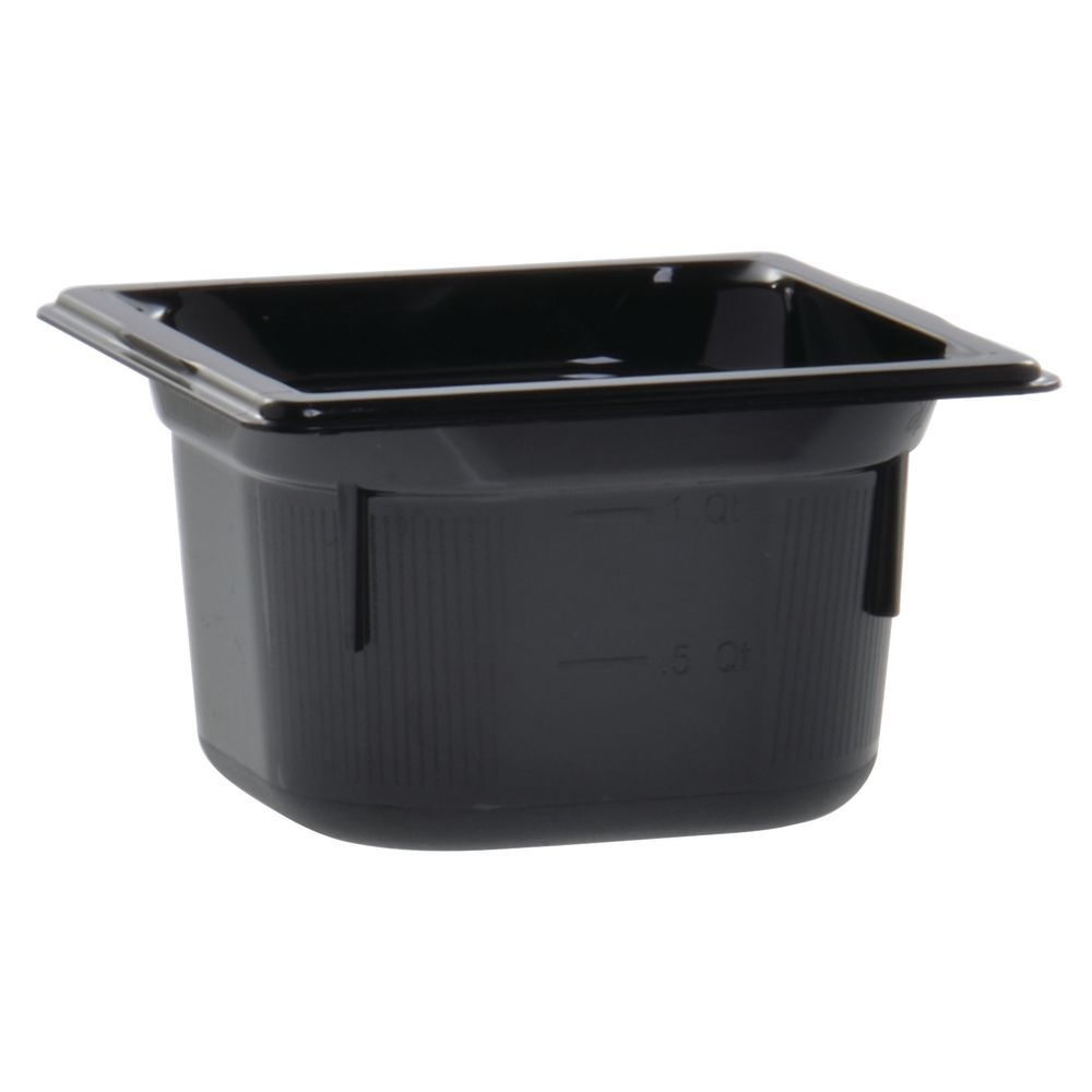 "Vollrath Super Pan Black Plastic Buffet Pan HighTemp 1/6 Size 4""D"