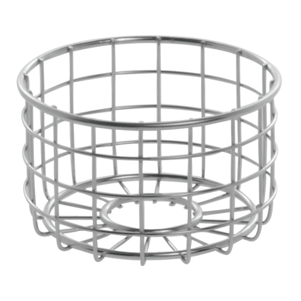"CO BASKET, BREAD, ROUND, 5""DIAX3""H, SS"
