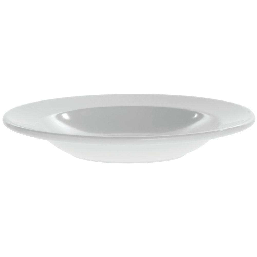 Elite Rio Mid-Rim Pasta or Soup Bowls 12 Oz White Melamine