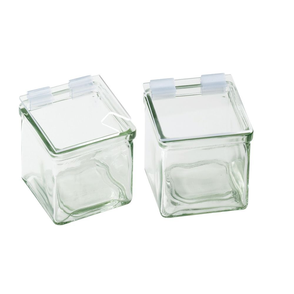 "Optional Condiment Holder Lid 4""W x 4""L Clear Glass"