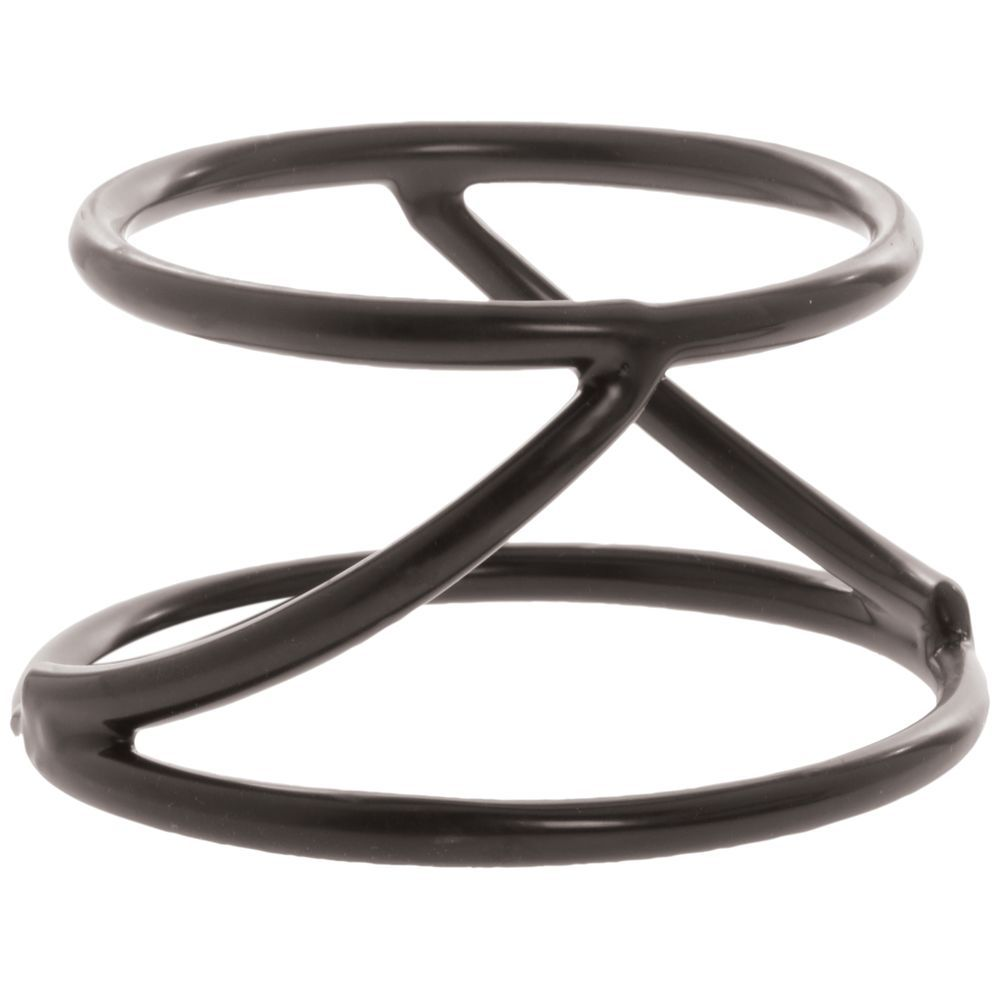 """Elite Round Spiral Pedestal 6"""" and 7"""" dia x 4""""H Rubber-Coated Steel"""