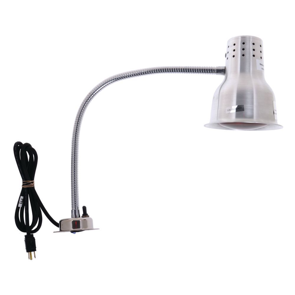 Carlisle Flexiglow Silver Flexible Arm Lamp With Single Bulb And Carving Board 18 Quot L X 26 Quot W X 24 Quot H