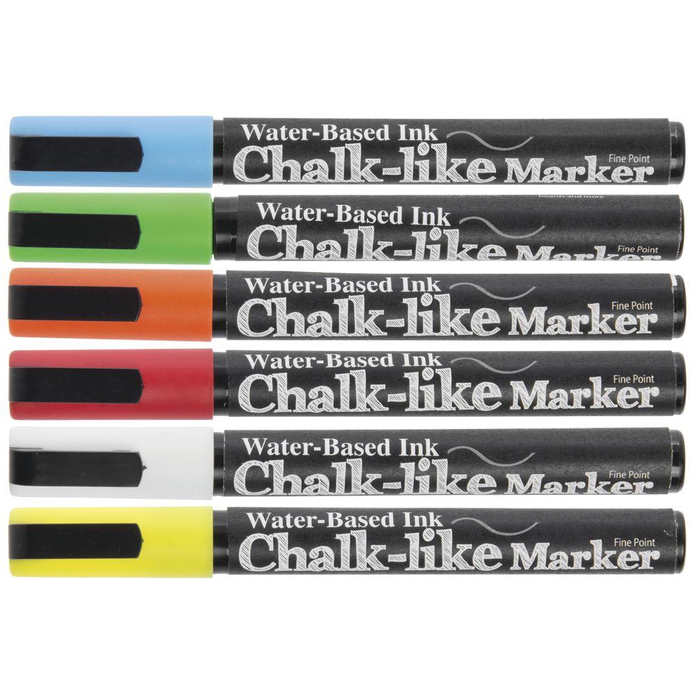 MARKER, CHALK-LIKE, 3MM, COLOR, SET 6