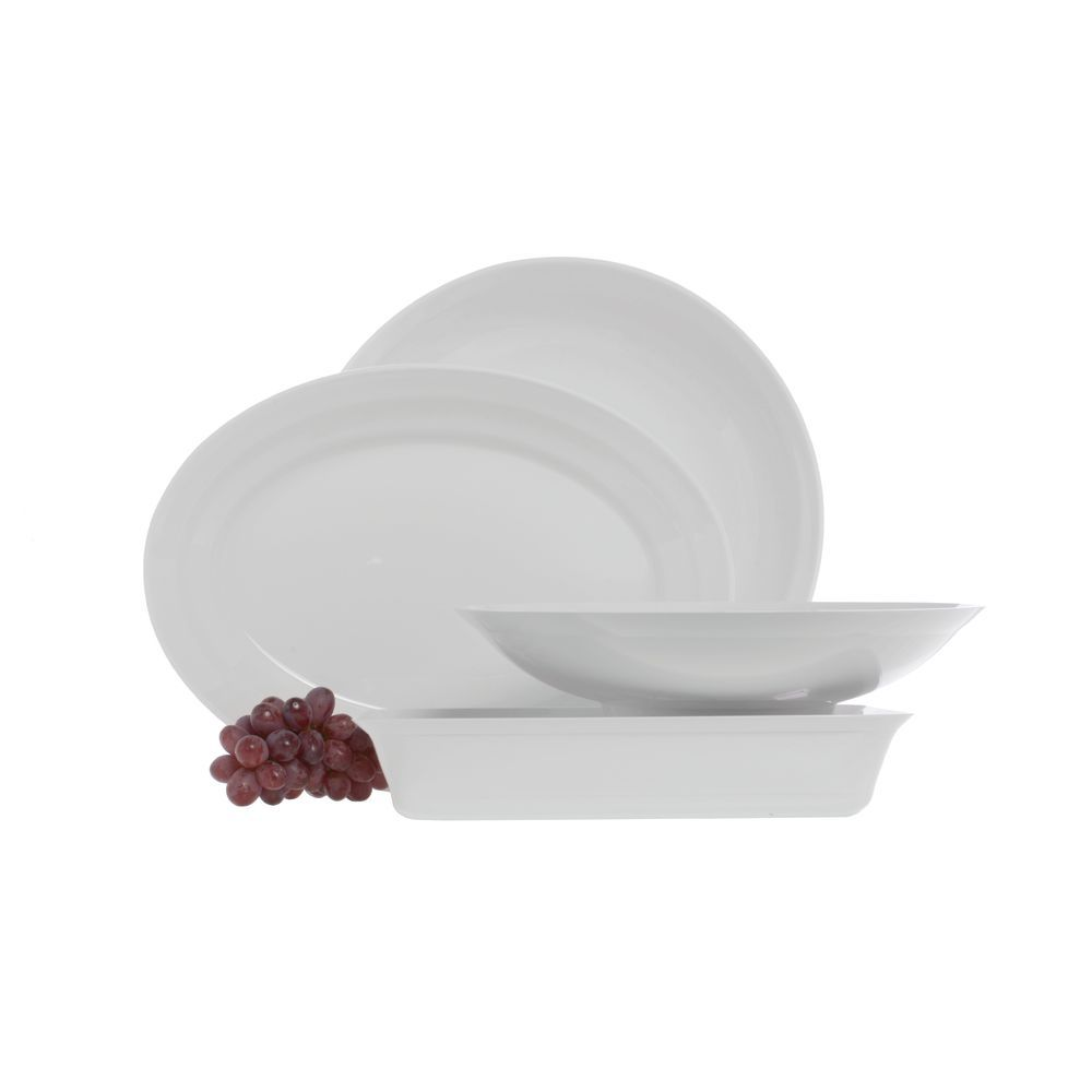 PLATTER, OVAL, WHITE ABS, 16.5X12X2""