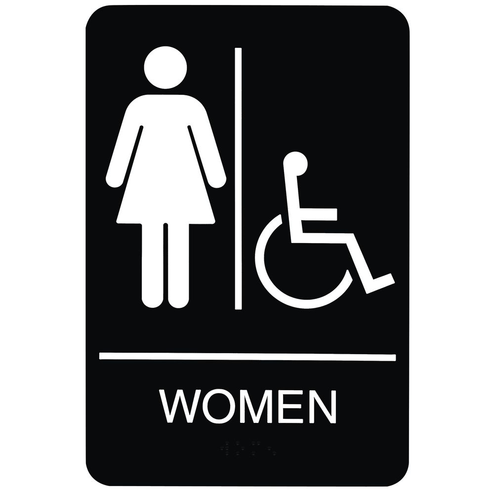 ADA Compliant Wheelchair Accessible Women's Restroom Sign ...