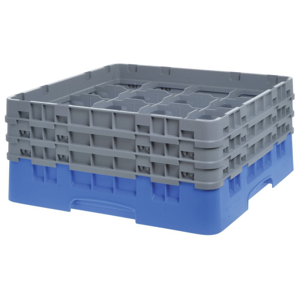 """Cambro Glass Rack Full Size Sixteen 4 3/8"""" Compartments Maximum Glass Height 6 7/8"""""""